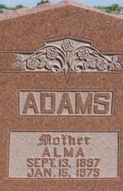 Alma <I>Barnett</I> Adams