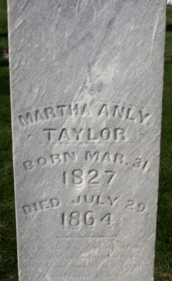 Martha Anly <I>Taylor</I> Phillips