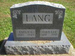 """Emily Louisa """"Lou"""" <I>Paddock</I> Lang"""