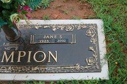 Lucy Jane <I>Stovall</I> Champion