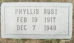Phyllis <I>Cox</I> Rust