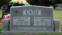 Ira Christine <I>Nix</I> Cash