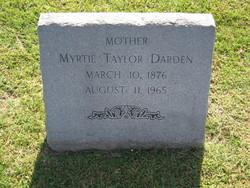 Myrtie <I>Taylor</I> Darden