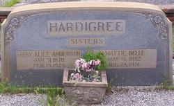 Mary Alice <I>Hardigree</I> Anderson