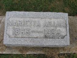 Marietta B <I>King</I> Adams