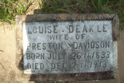 Louise <I>Deakle</I> Davidson