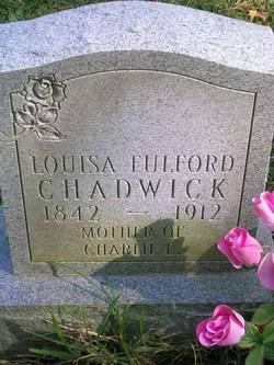 Louisa <I>Fulford</I> Chadwick