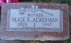 Alice E Ackerman
