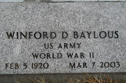Winford Daniel Wink Baylous
