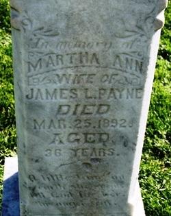 Martha Ann <I>Colemere</I> Payne