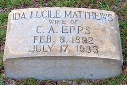 Ida Lucille <I>Matthews</I> Epps
