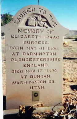 """Elizabeth """"Betsy"""" <I>Isaac</I> Burgess"""