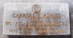 Carroll E Adams