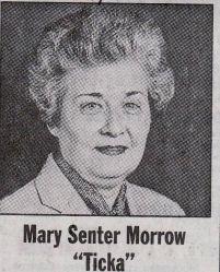 """Mary """"Ticka"""" <I>Senter</I> Morrow"""
