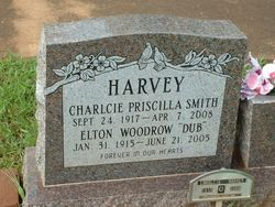 Charlcie Priscilla <I>Smith</I> Harvey