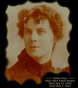 """Mary Alice """"Mame Faye"""" <I>Fahey</I> Bonter"""