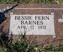 Bessie Fern <I>Freeman</I> Barnes