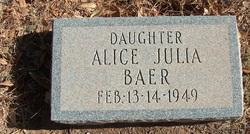 Alice Julia Baer