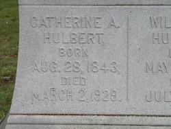 Catherine A <I>Hollister</I> Hulbert