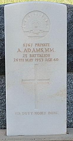 Pt A. Adams