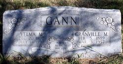 Velma M. <I>Littrell</I> Gann