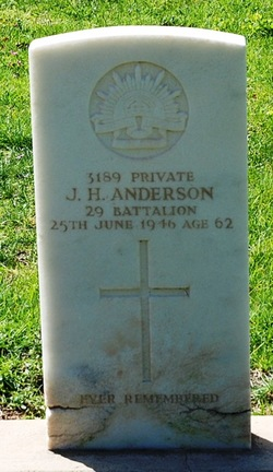 Pvt. J. H. Anderson