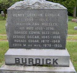 Martha Ann <I>Wheeler</I> Burdick