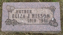 Eliza Jane <I>Steed</I> Hissom
