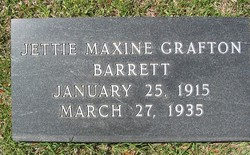 Jettie Maxine <I>Grafton</I> Barrett