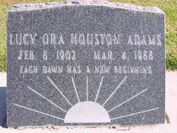 Lucy Ora <I>Houston</I> Adams