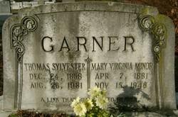 Mary Virginia <I>Minor</I> Garner