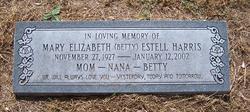 "Mary Elizabeth ""Betty"" <I>Estell</I> Harris"