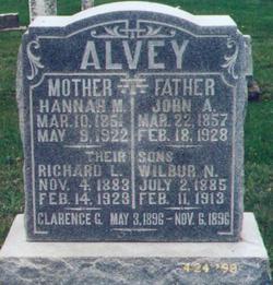 Hannah Marie <I>Gray</I> Alvey