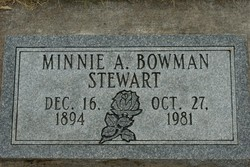 Minnie Alena <I>Bowman</I> Stewart