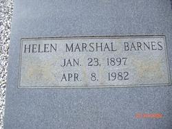 Helen <I>Marshall</I> Barnes