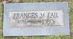 Frances M <I>Bennett</I> Fail