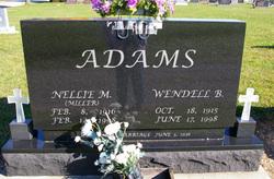 Nellie M <I>Miller</I> Adams