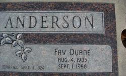 Fay Duane Anderson