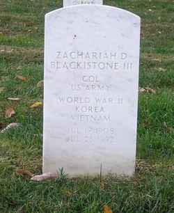 Zachariah D Blackistone, III
