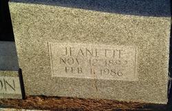 """Amanda Jane """"Jeanette"""" <I>Lewis</I> Richardson"""