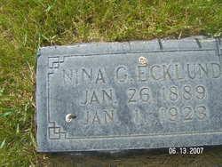 Nina Grace <I>Parker</I> Ecklund