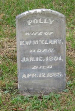 """Mary """"Polly"""" <I>Karnes</I> McClary"""