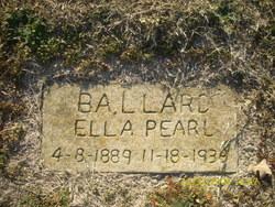 Ella Pearl <I>Joplin</I> Ballard