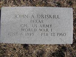 Corp John Alexander Driskill