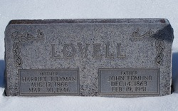 Harriet Jane <I>Lyman</I> Lovell