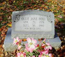Ollie Jane <I>Abney</I> Holt