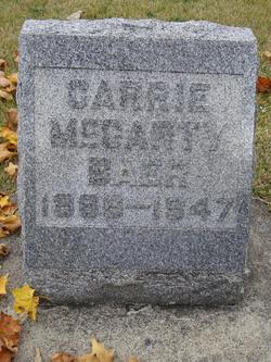 Carrie M <I>McCarty</I> Baer