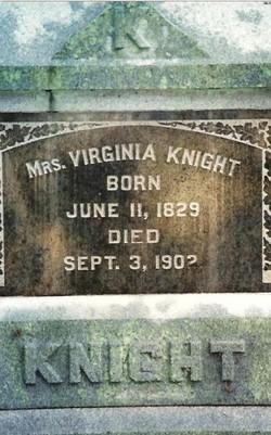 Sarah Virginia <I>Mitchell</I> Knight