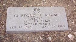 """PFC Clifford H """"Pete"""" Adams"""