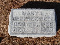 Mary L <I>Deupree</I> Betz